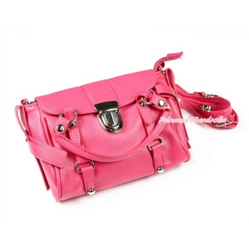 Hot Pink Luxury Chain Handbag Petti Bag Purse With Strap CB114