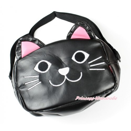 Black Cat Cute Kids School Zipper Cross Shoulder Bag CB119
