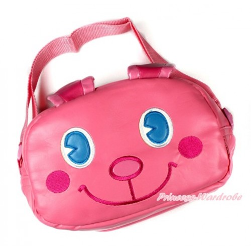 Hot Pink Bunny Rabbit Cute Kids School Zipper Cross Shoulder Bag CB123