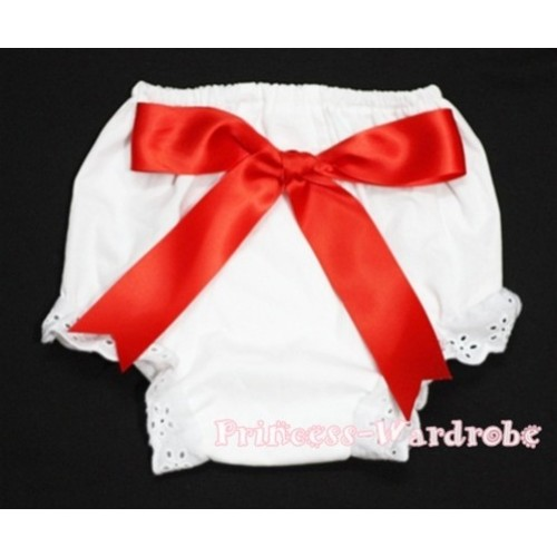 White Bloomers & Red Big Bow BC93