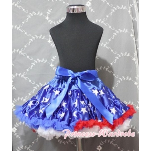 Patriotic America Flag Star Teen Full Pettiskirt XXL AP23