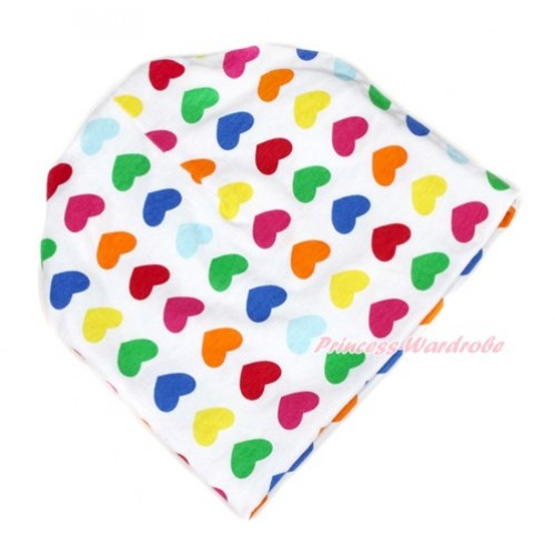 Rainbow Little Heart Cotton Cap TH408