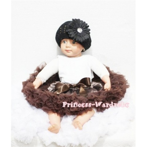 Chocolate Brown PREMIUM New Born Pettiskirt  D07