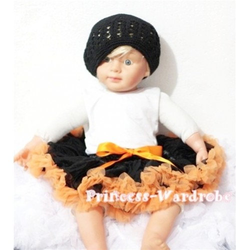 Black Orange New Born Pettiskirt  N53