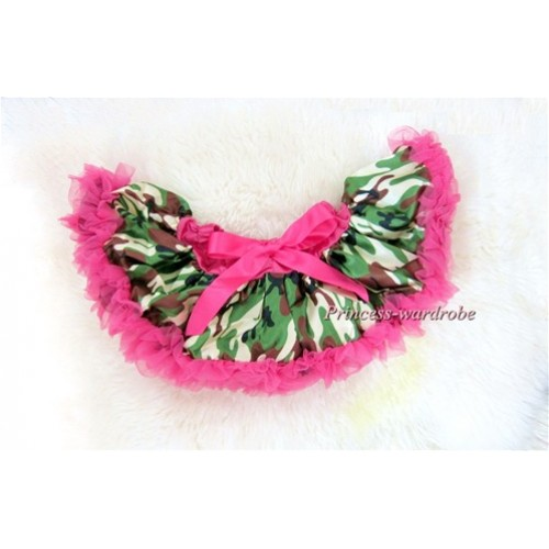 Hot Pink Camouflage New Born Pettiskirt N092