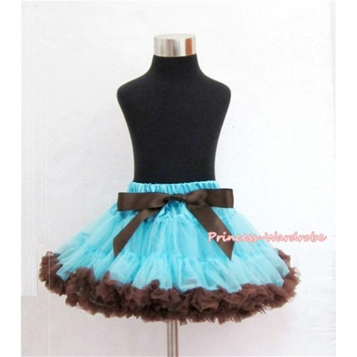 Light Blue Brown Pettiskirt P95