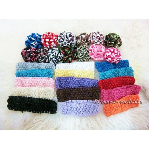 Lot 12 Pattern Rosettes Lot 15 Headband LA004