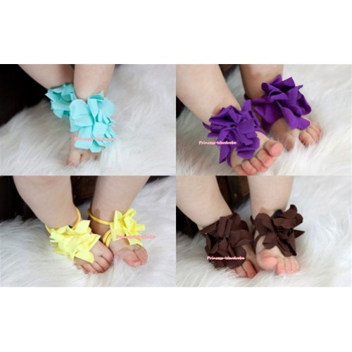 Flower Infant Baby Toddler Barefoot Blooms Ring Sandals S411