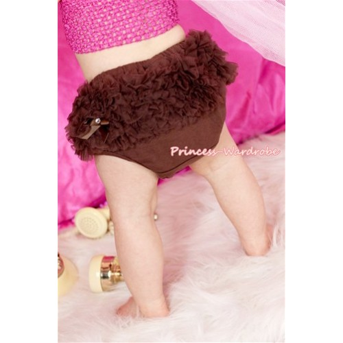 Brown Ruffles Bloomers B050