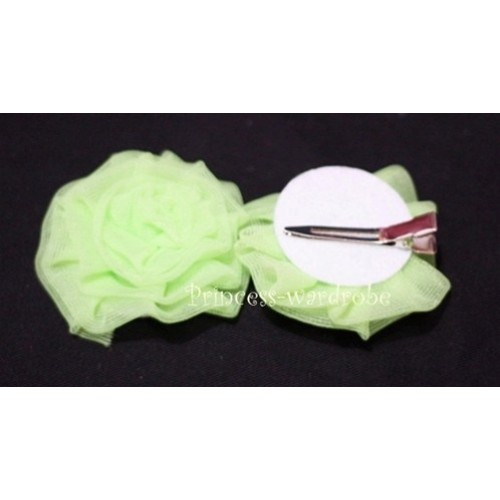 Light Green Rosettes Hair Pin H029