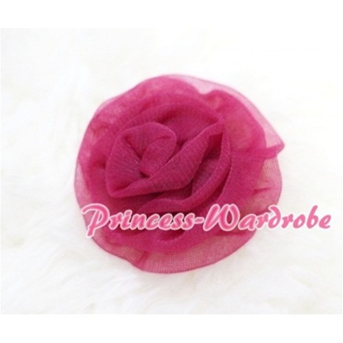 Raspberry Rosettes Hair Pin H044