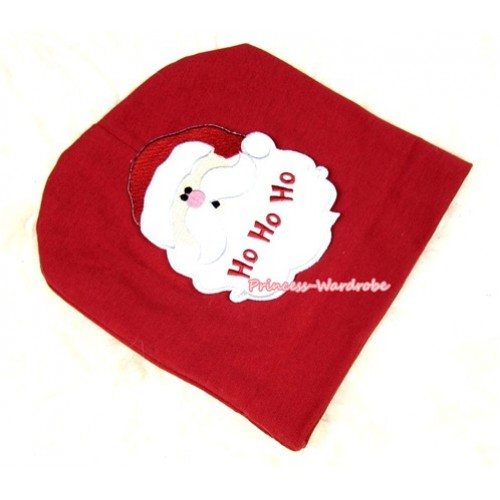 Red Cotton Cap with Santa Claus Print TH266