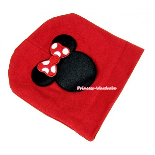 Red Cotton Cap with Minnie Print TH264