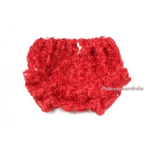 Red Romantic Rose Panties Bloomers BR30