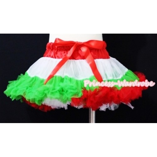 Red White Green Mix Pettiskirt P64