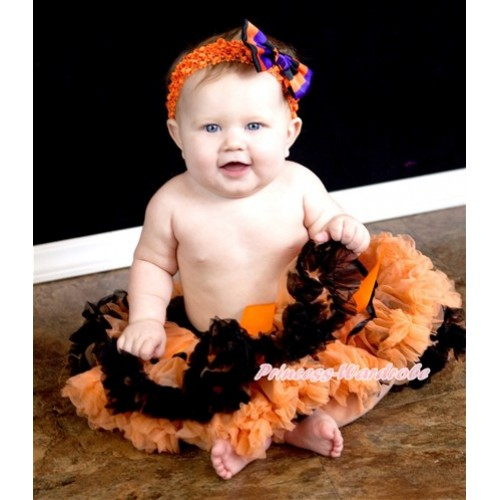 Black Orange Trim Pettiskirt P89