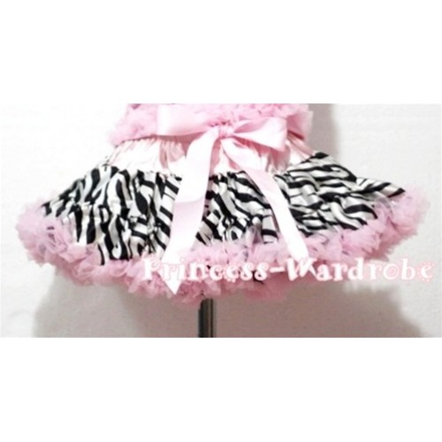 Light Pink Zebra Pettiskirt P56