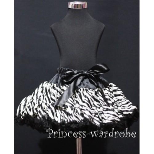 Black Zebra Pettiskirt P76