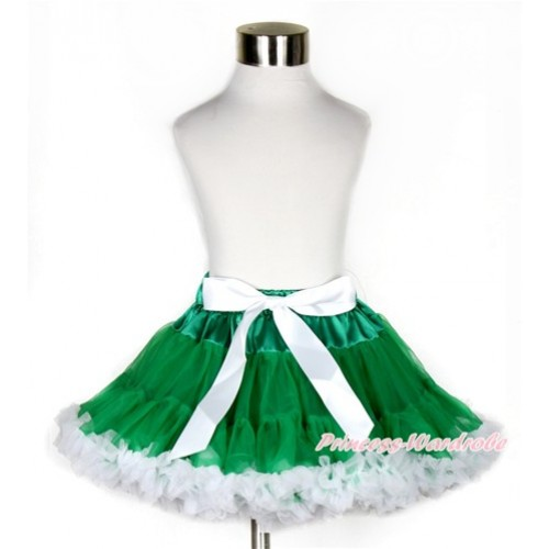 Xmas Kelly Green White Pettiskirt P174