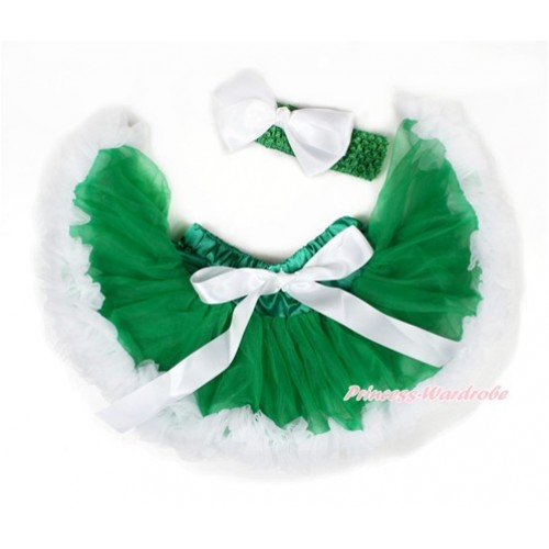 Xmas Kelly Green White Newborn Pettiskirt N183