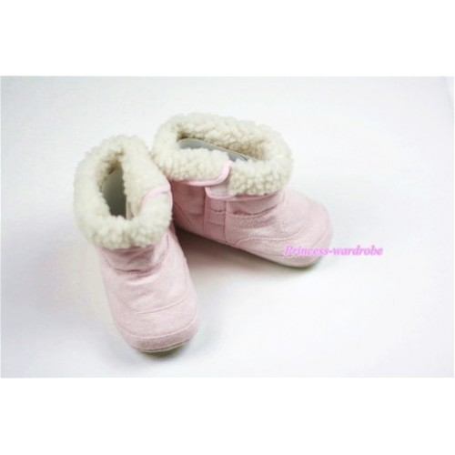Light Pink Baby Crib Boots SB18