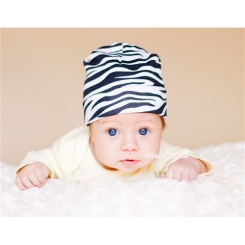 Baby Jumpsuit Cap with Zebra Print TH239
