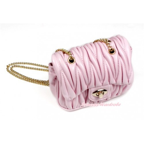 Gold Chain Light Pink Luxury Quilt Shoulder Bag CB137