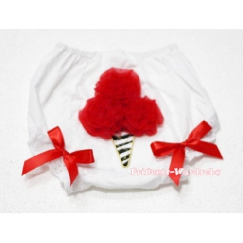 Hot Red Zebra Ice Cream Panties Bloomers BD17