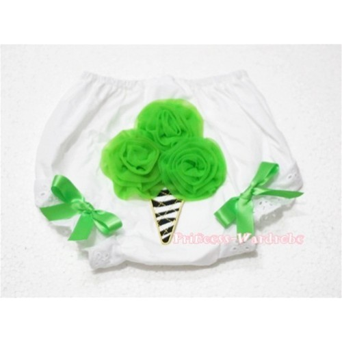 Dark Green Zebra Ice Cream Panties Bloomers BD21