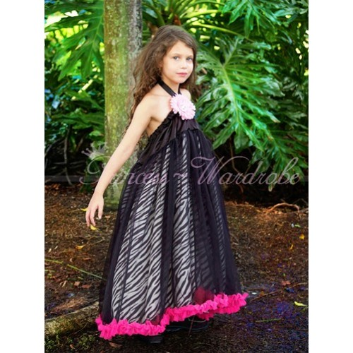 Zebra Hot Pink Black Pettidress P80