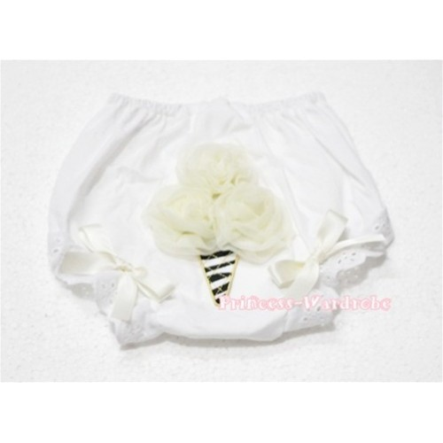 Cream White Zebra Ice Cream Panties Bloomers BD28