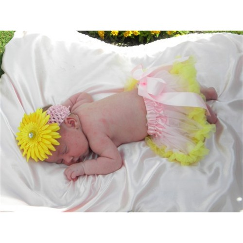 Pink Yellow New Born Pettiskirt N05