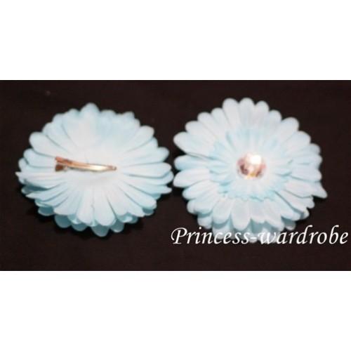 Light Blue Crystal Daisy Hair Pin H99