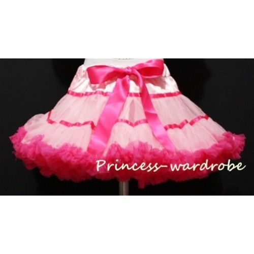 Light Hot Pink Trim Teen Full Pettiskirt XXL AP29