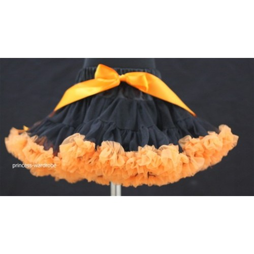 Black Orange Teen Full Pettiskirt XXL AP30