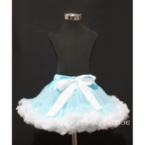 Light Blue White Teen Full Pettiskirt XXL AP34