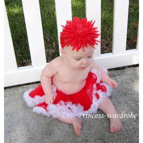 Red White New Born Pettiskirt N16