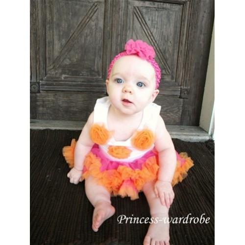 Hot Pink & Orange New Born Pettiskirt N17
