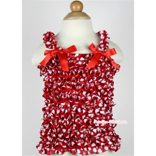 Minnie Polka Dots Ruffles Tank Top with Red Bow NR20