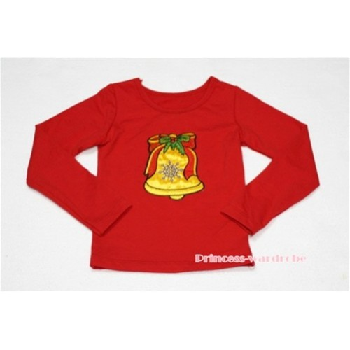 Christmas Bell Red Long Sleeves Top TW90