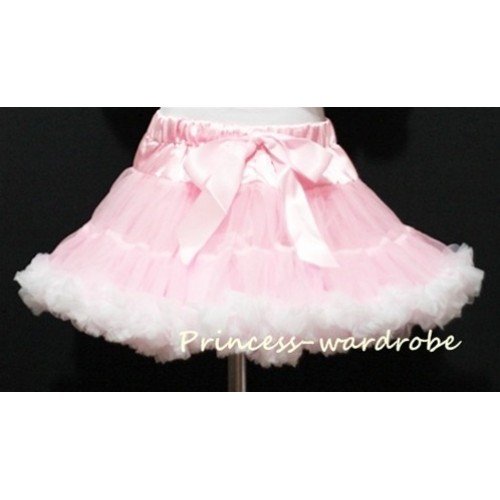 Light Pink White Teen Full Pettiskirt XXL AP35