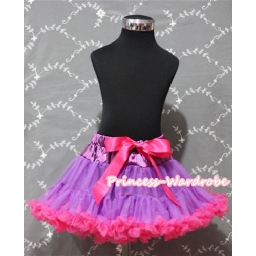 Dark Purple Hot Pink Pettiskirt XXL AP39