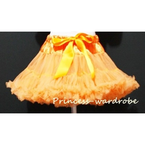 Orange Teen Full Pettiskirt XXL AP38