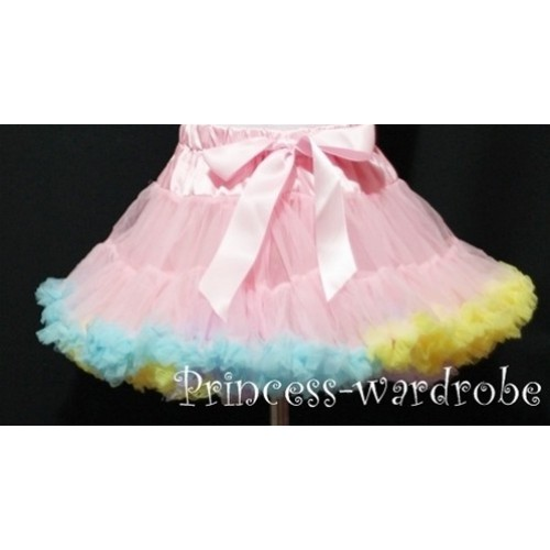 Rainbow Blue Yellow Purple Mix Teen Full Pettiskirt XXL AP40