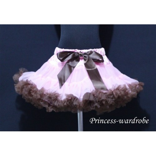 Light Pink Brown Pettiskirt P37
