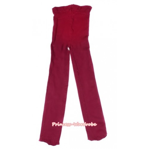 Plain Raspberry Wine Red Leggings Skinny Pants Tights LG260