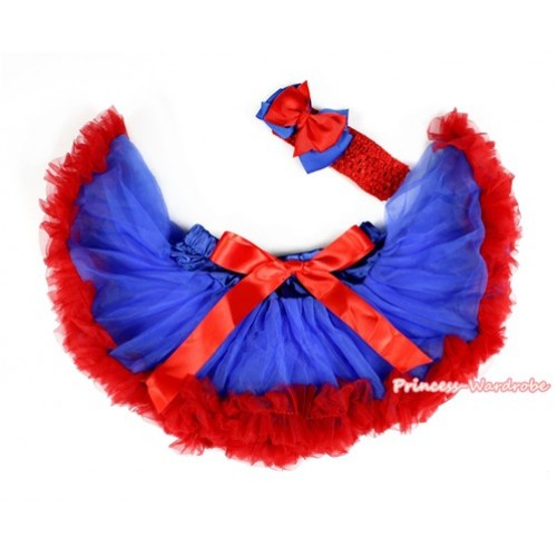 Royal Blue Red Newborn Pettiskirt N122