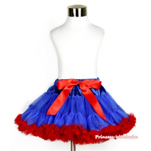Royal Blue Red Pettiskirt P175