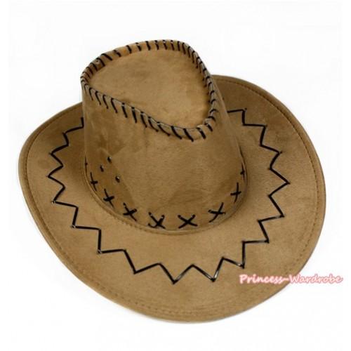 Golenrod Leather Western Cowboy Wide Brim Hat H785
