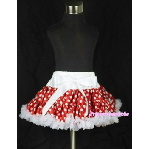 Minnie White Polka Dots Teen Full Pettiskirt XXL AP46